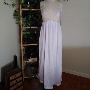 Vintage JCP ILGWU  Sz M 12-14 Lavender & Lace Gown